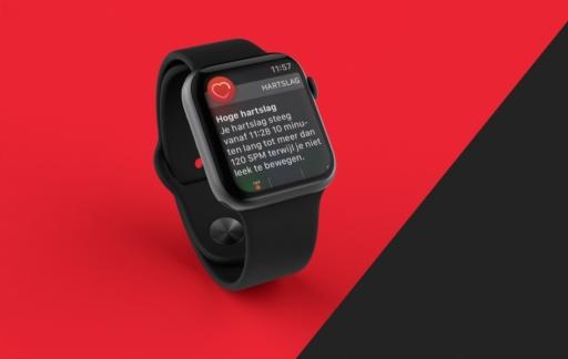 Waarschuwing van een hoge hartslag op Apple Watch.