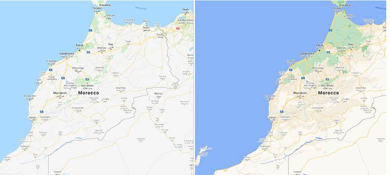 Google Maps voor Marokko