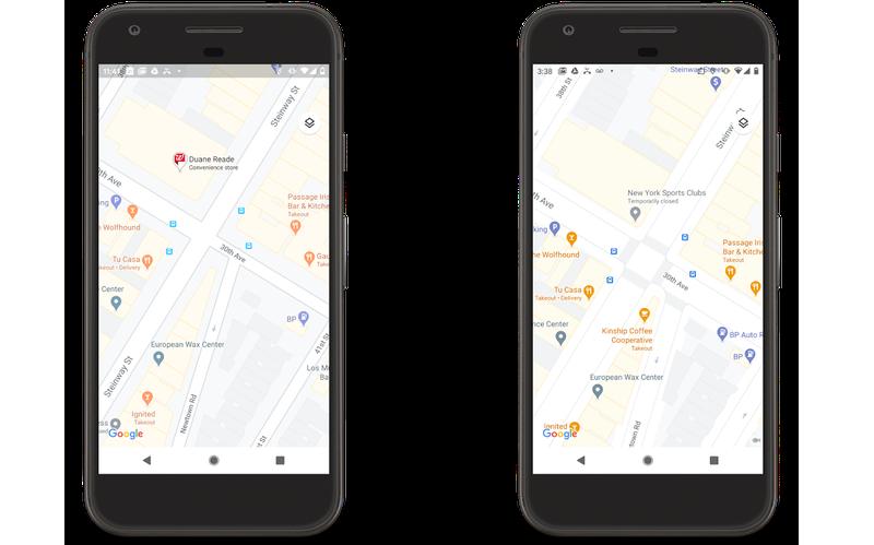 Google Maps details straatniveau