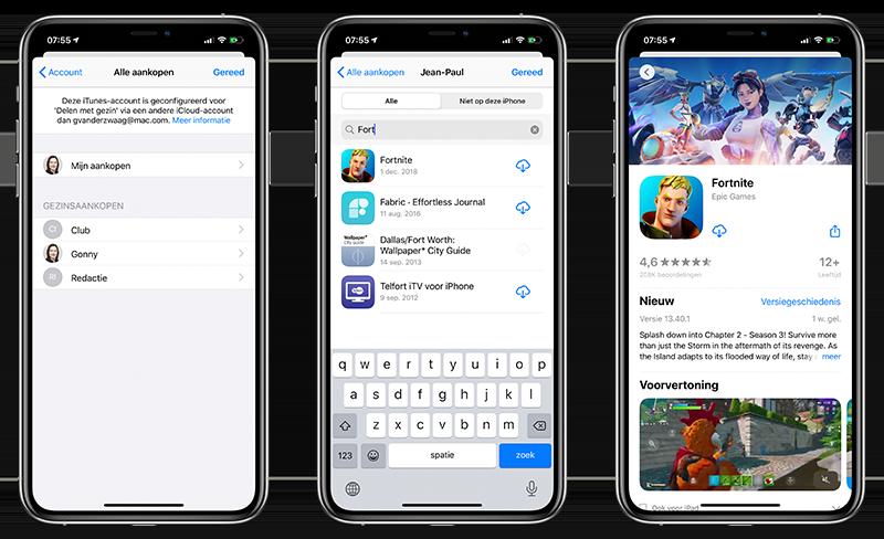 Eerdere aankopen uit App Store halen