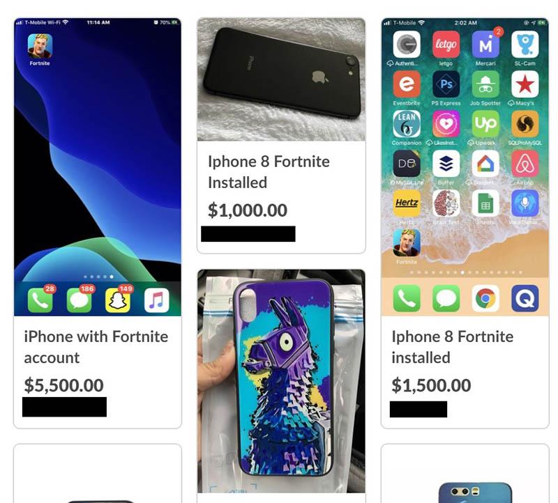 iPhones met Fortnite