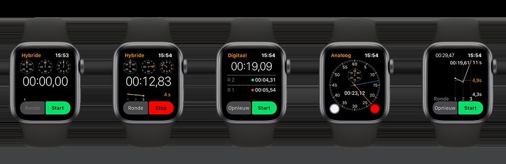 Apple Watch stopwatch