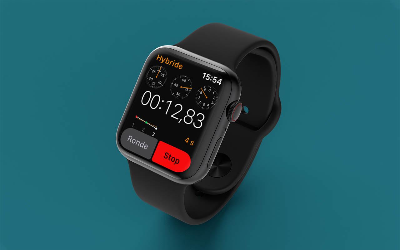 Apple Watch stopwatch hybride