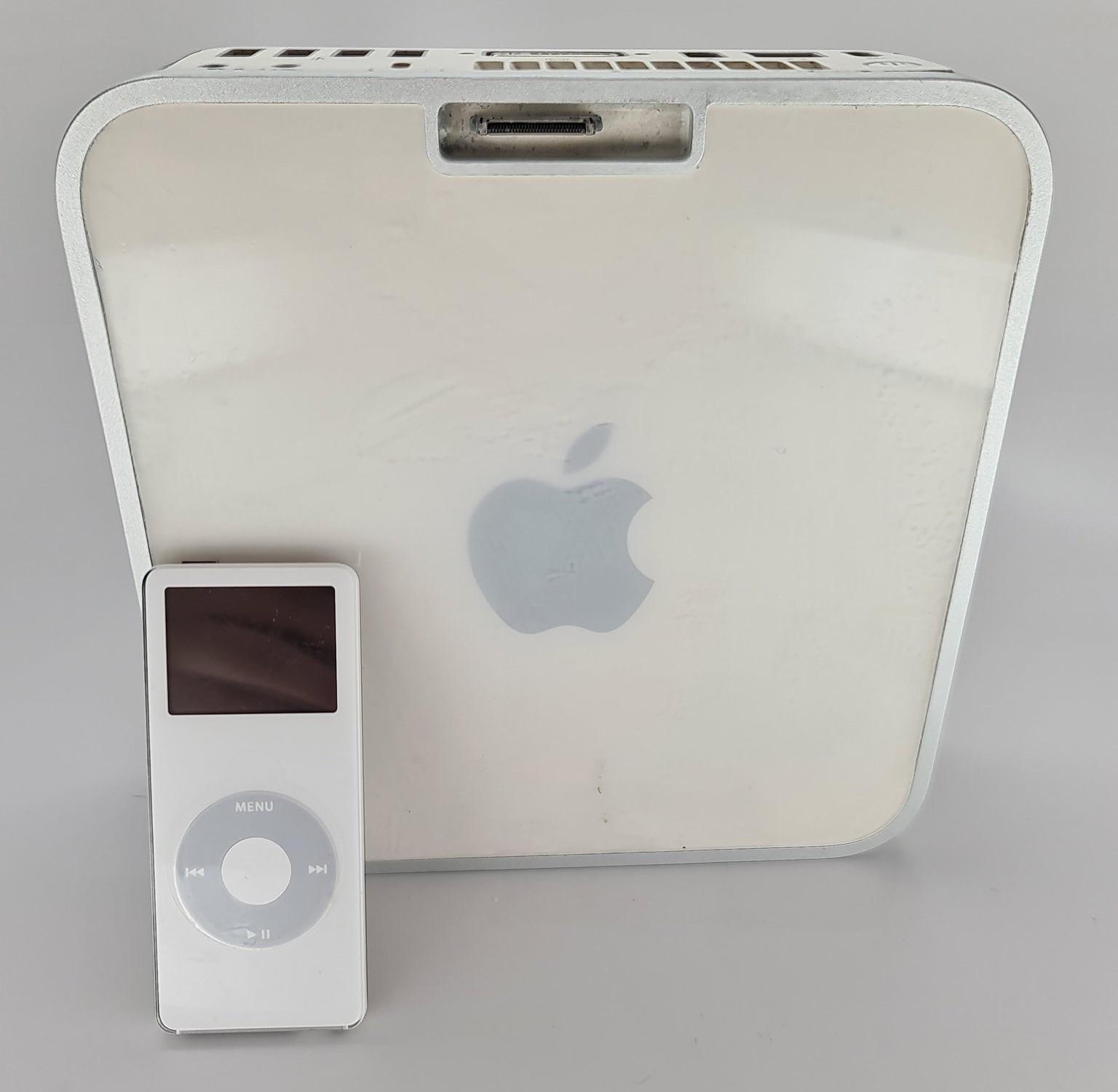 iPod nano voor prototype Mac mini.