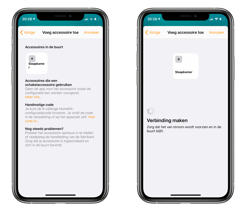 Verbinding maken met speaker in Woning-app voor AirPlay 2.