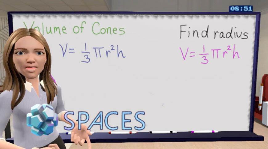 Spaces VR in onderwijs