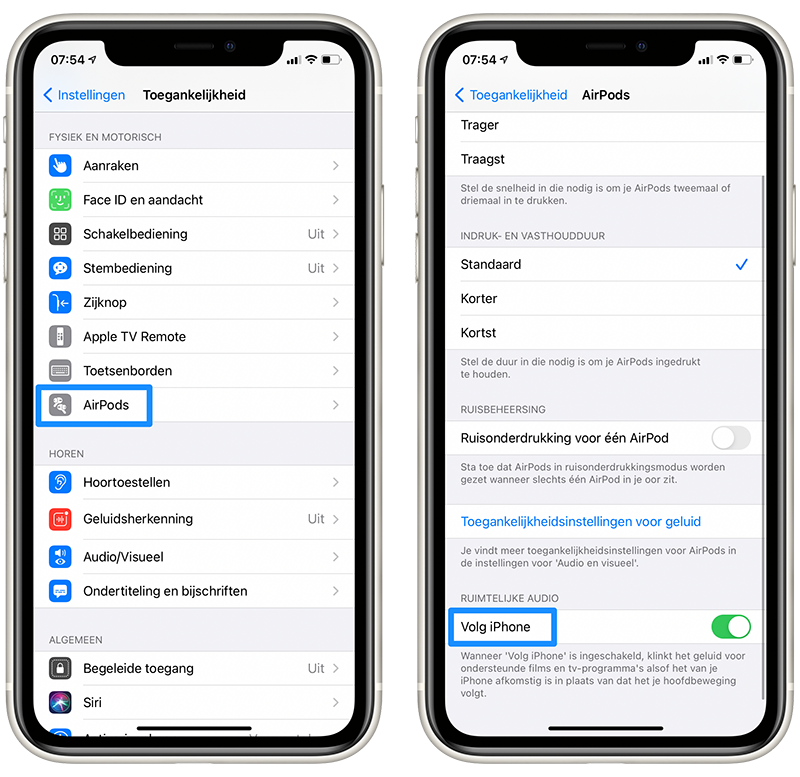 iOS 14 beta 6 Ruimtelijke Audio