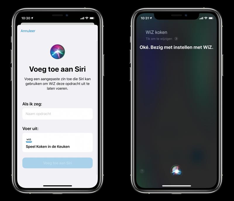 Control WiZ with Siri.