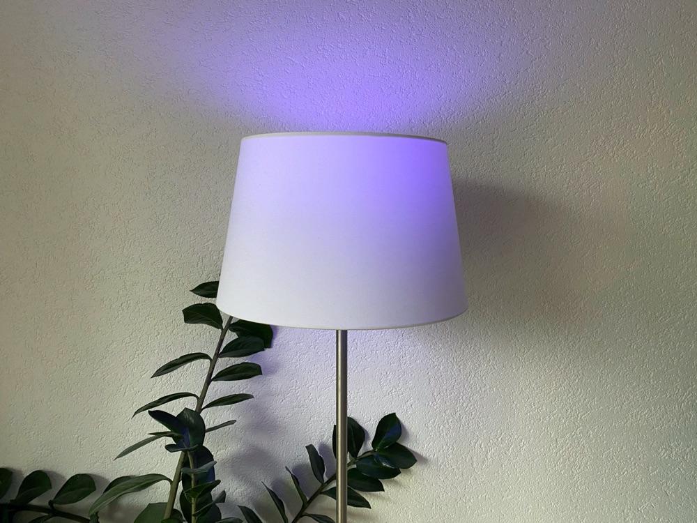 WiZ lamp gekleurd.