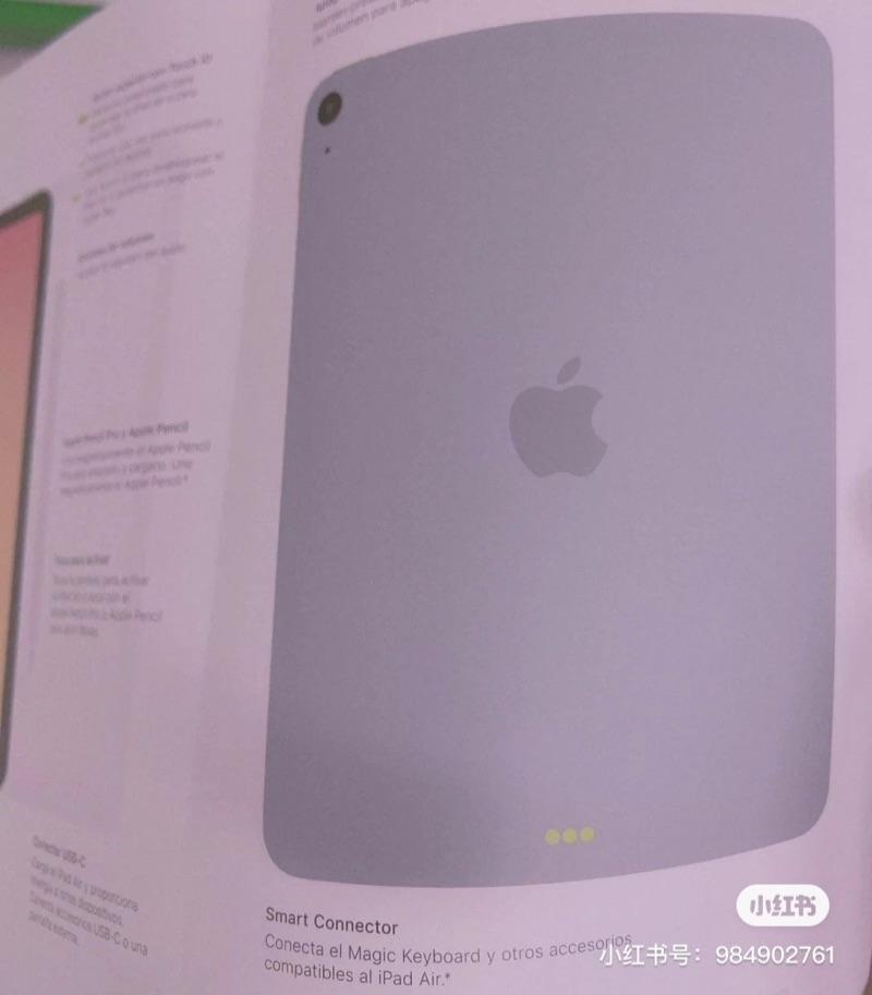 iPad Air 4 handleiding met achterkant.