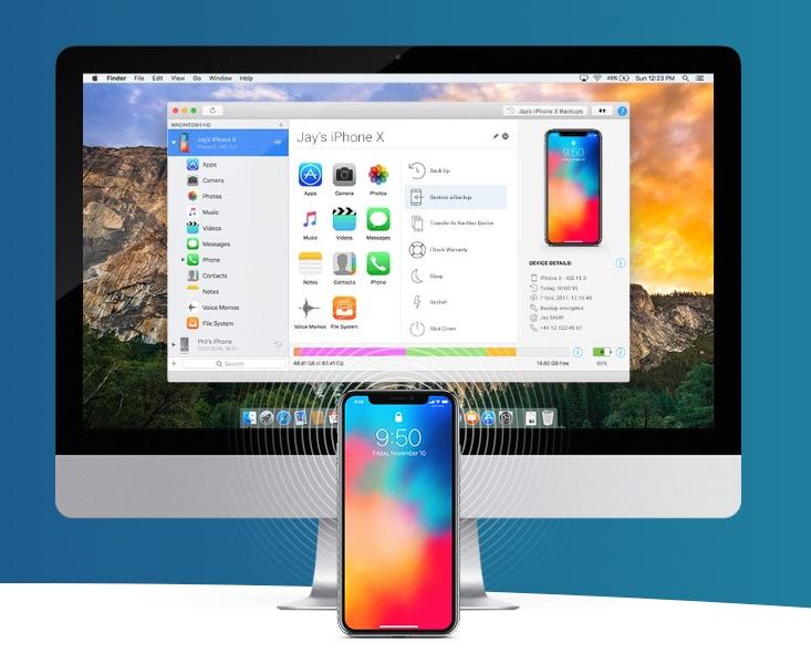 iMazing met iPhone en Mac.