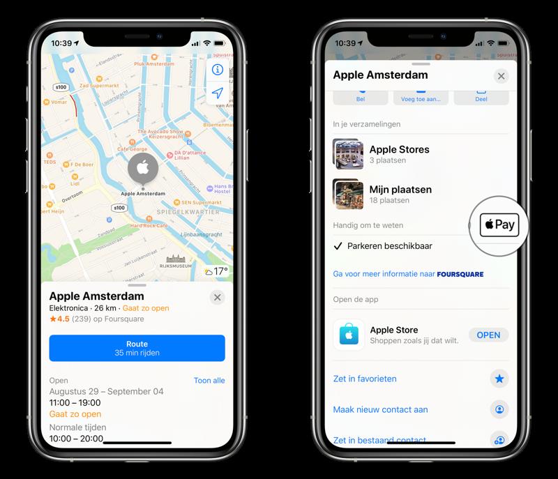 Apple Pay winkels zoeken.