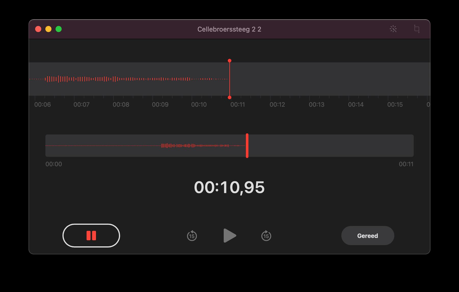 Dictafoon op Mac