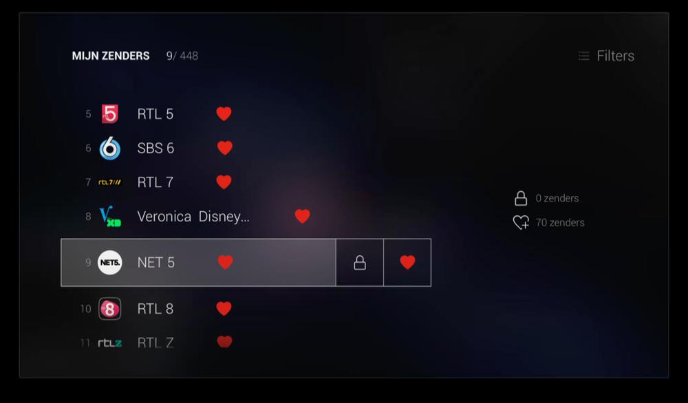 Zenders instellen in T-Mobile op Apple TV.