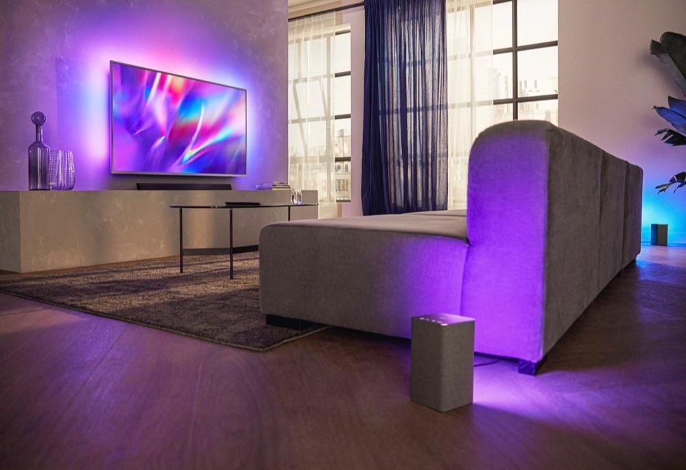 Philips speaker met Ambilight.