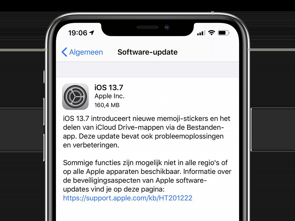 Releasenotes iOS 13.7 Nederlands