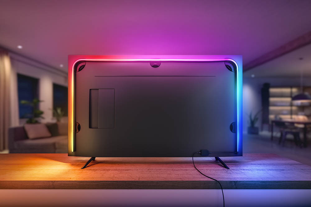 Philips Hue Gradient Lightstrip op tv