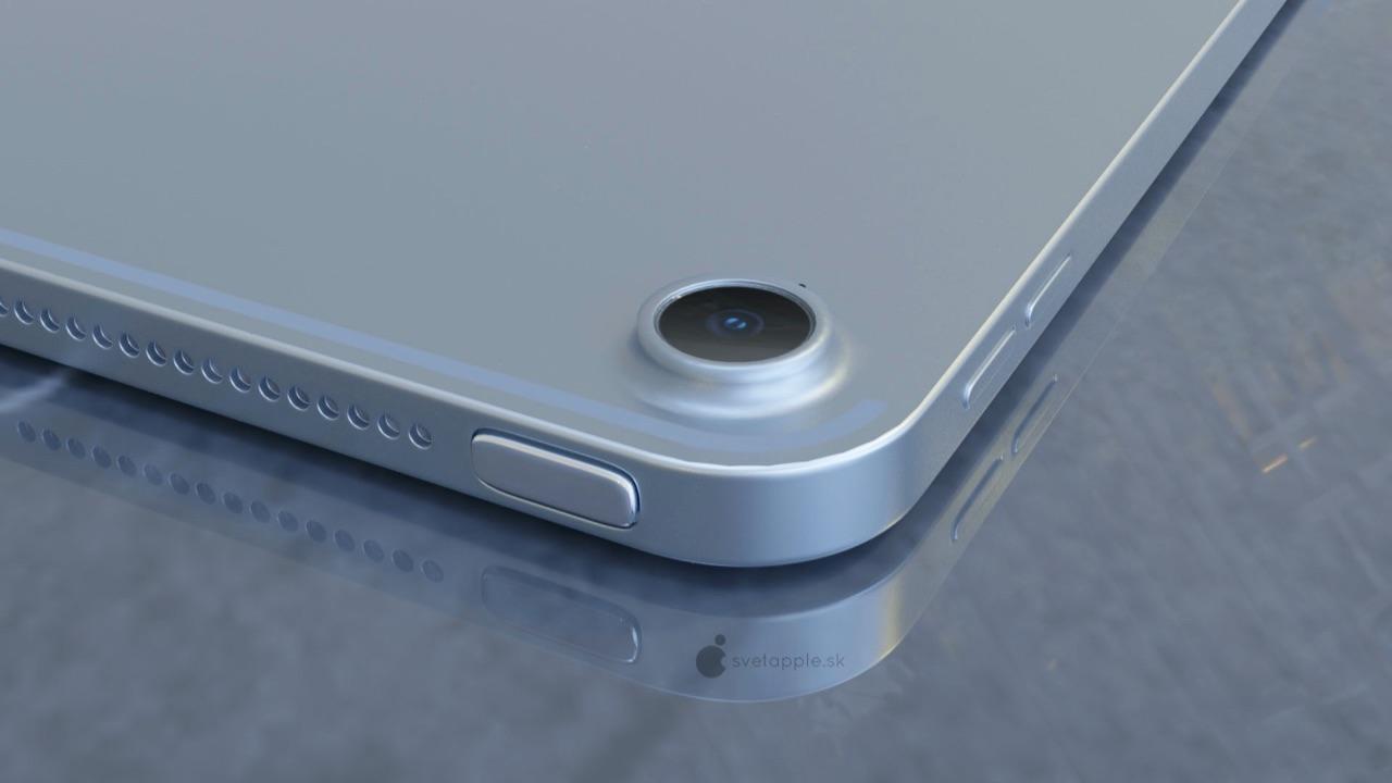 iPad Air 4 concept met nieuwe powerknop.