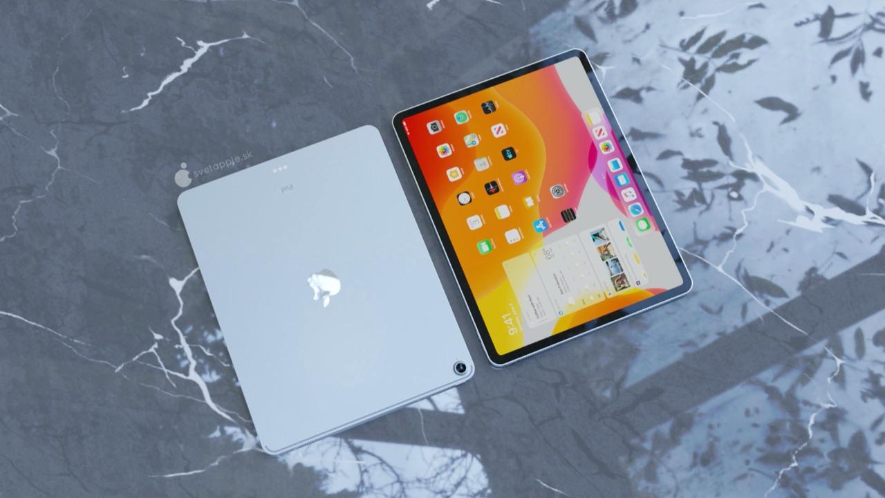 iPad Air 4 concept met scherm.