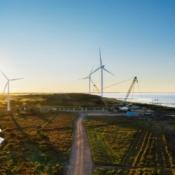 Apple windmolenpark in Denemarken.