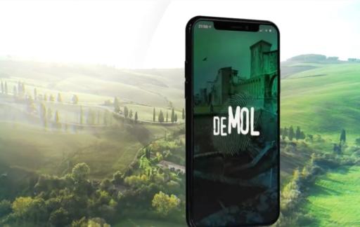 Wie is de Mol? 2020 jubileum app in Toscane.