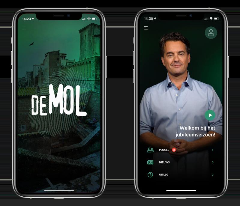 Wie is de Mol 2020 app voor jubileumseizoen.