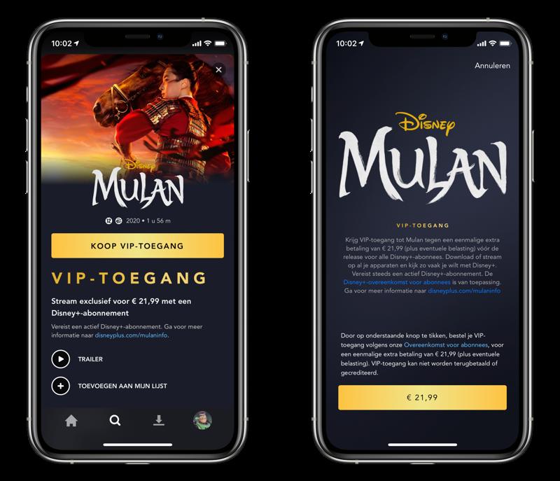 Mulan op Disney+ kijken.