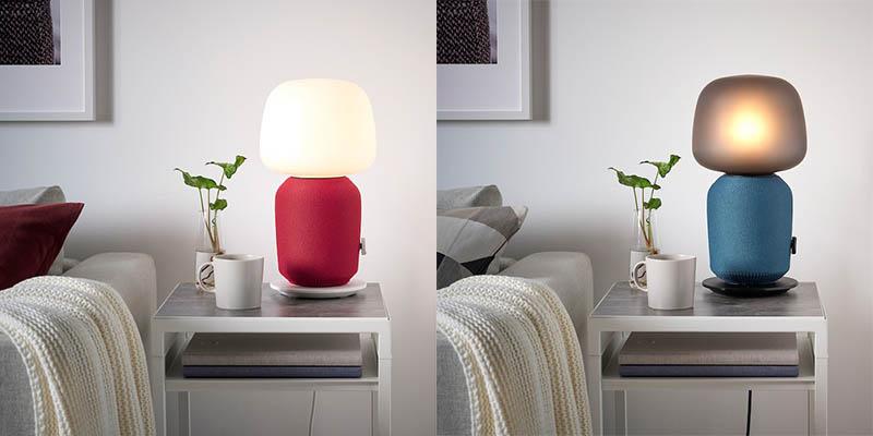 Symfonisk-hoes voor tafellamp in rood en blauw