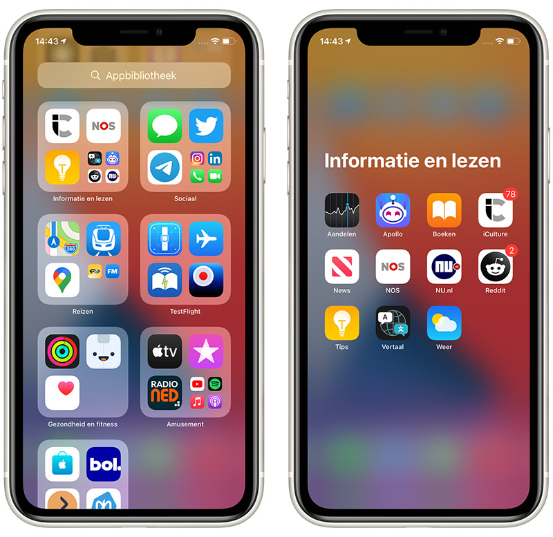 Appbibliotheek in iOS 14
