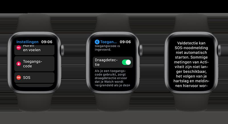 Draagdetectie Apple Watch