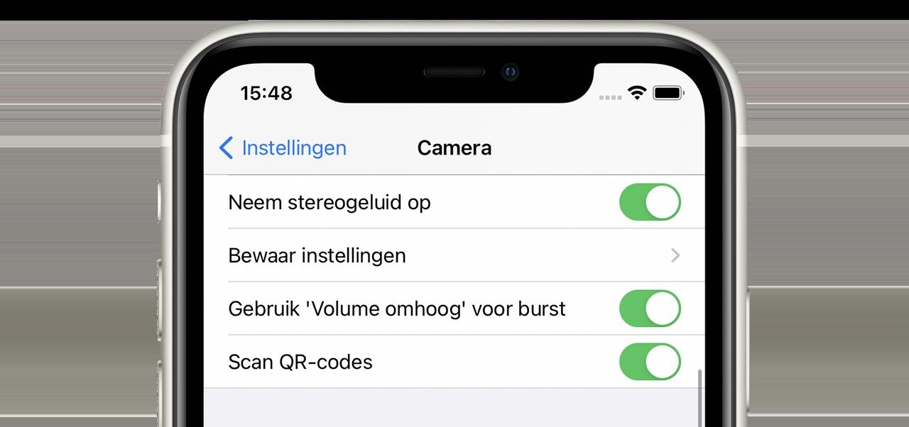 Burst mode in iOS 14