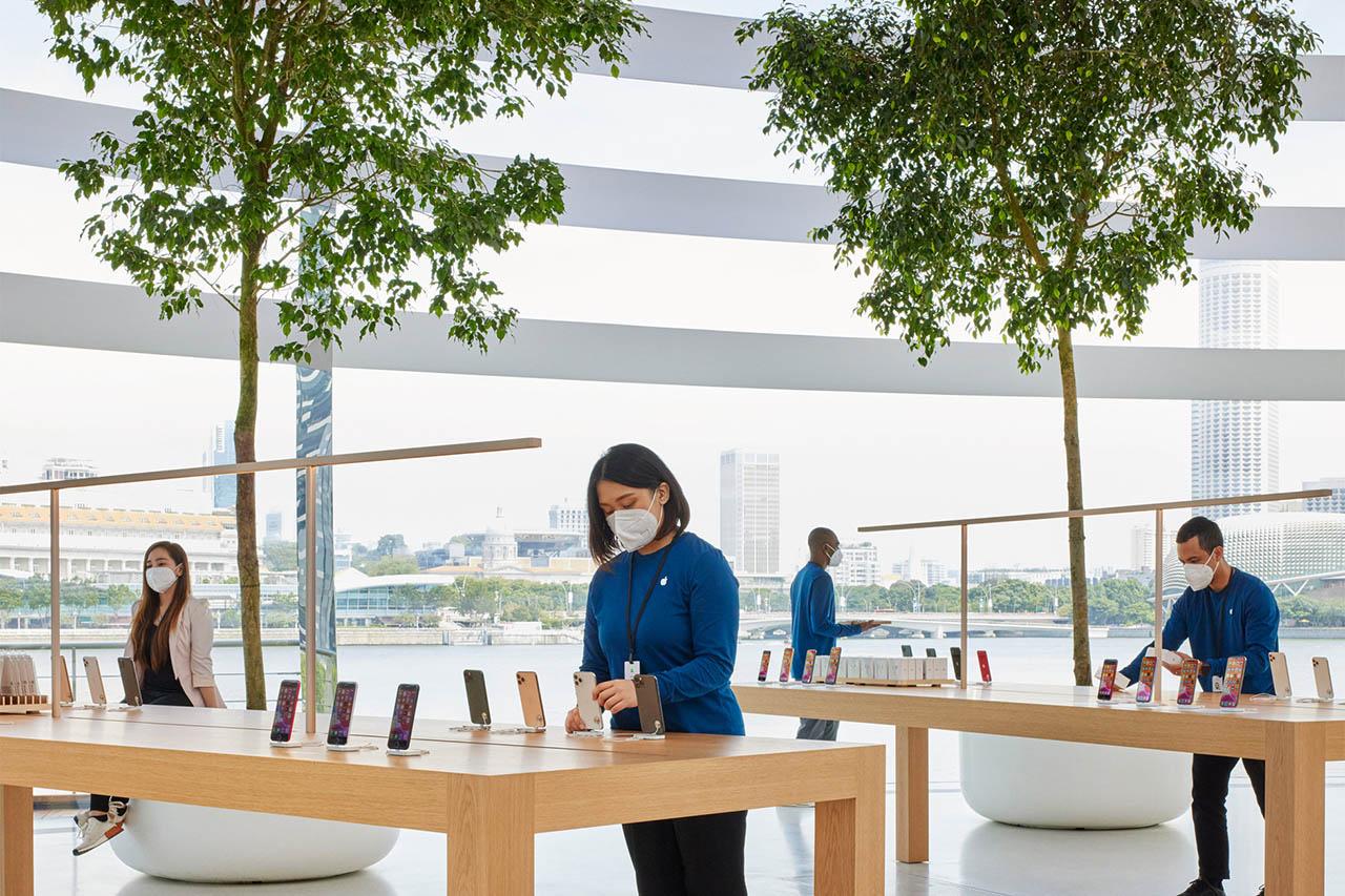 Apple Marina Bay Sands tafels