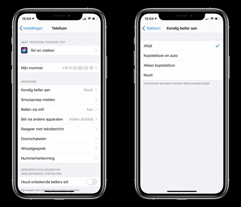 Kondig beller aan: Siri kan naam van beller uitspreken op je iPhone.