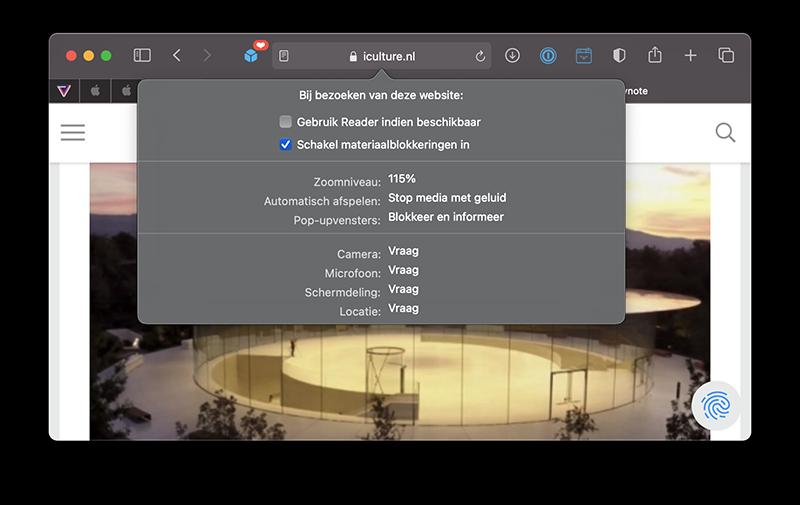 Tekstgrootte Safari op de Mac