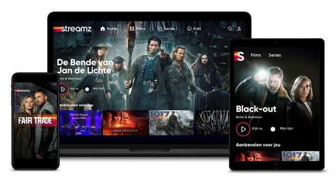 Streamz-app in België.