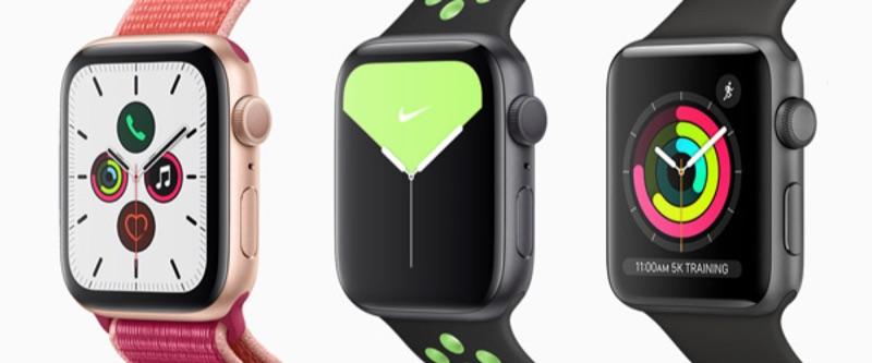 Apple Watch modellen: lineup van 2019.