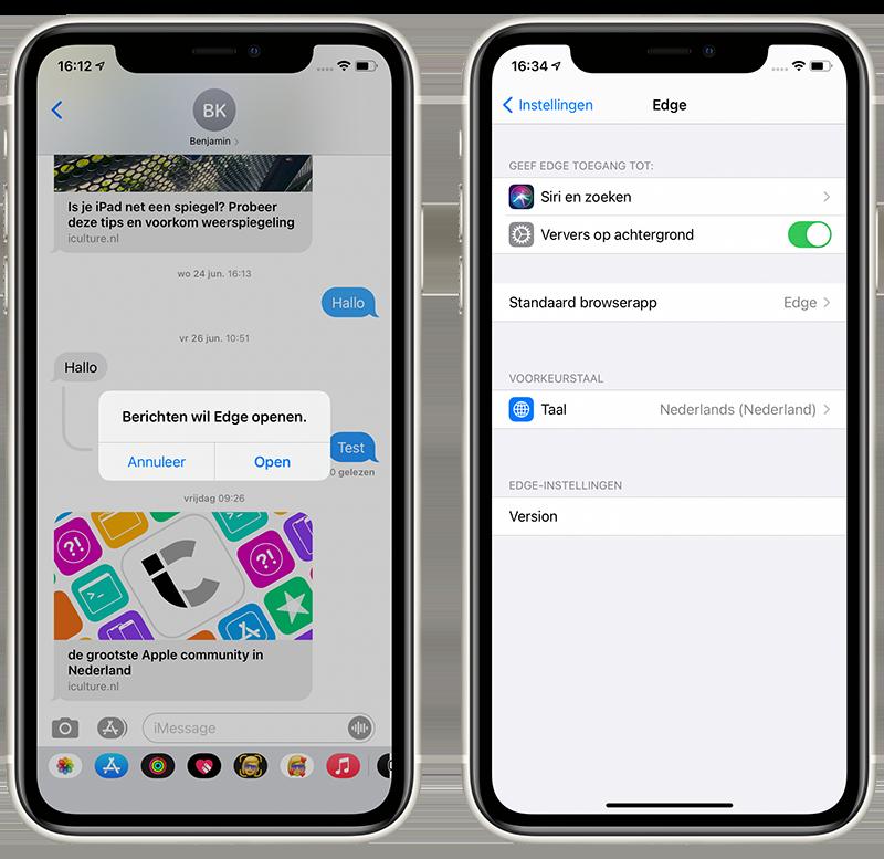 Standaardbrowser aanpassen iPhone
