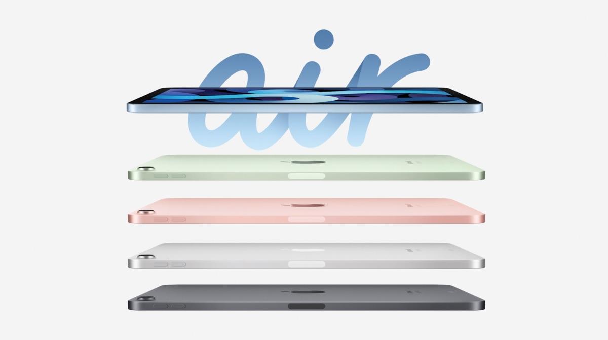 iPad Air 4 met kleuren