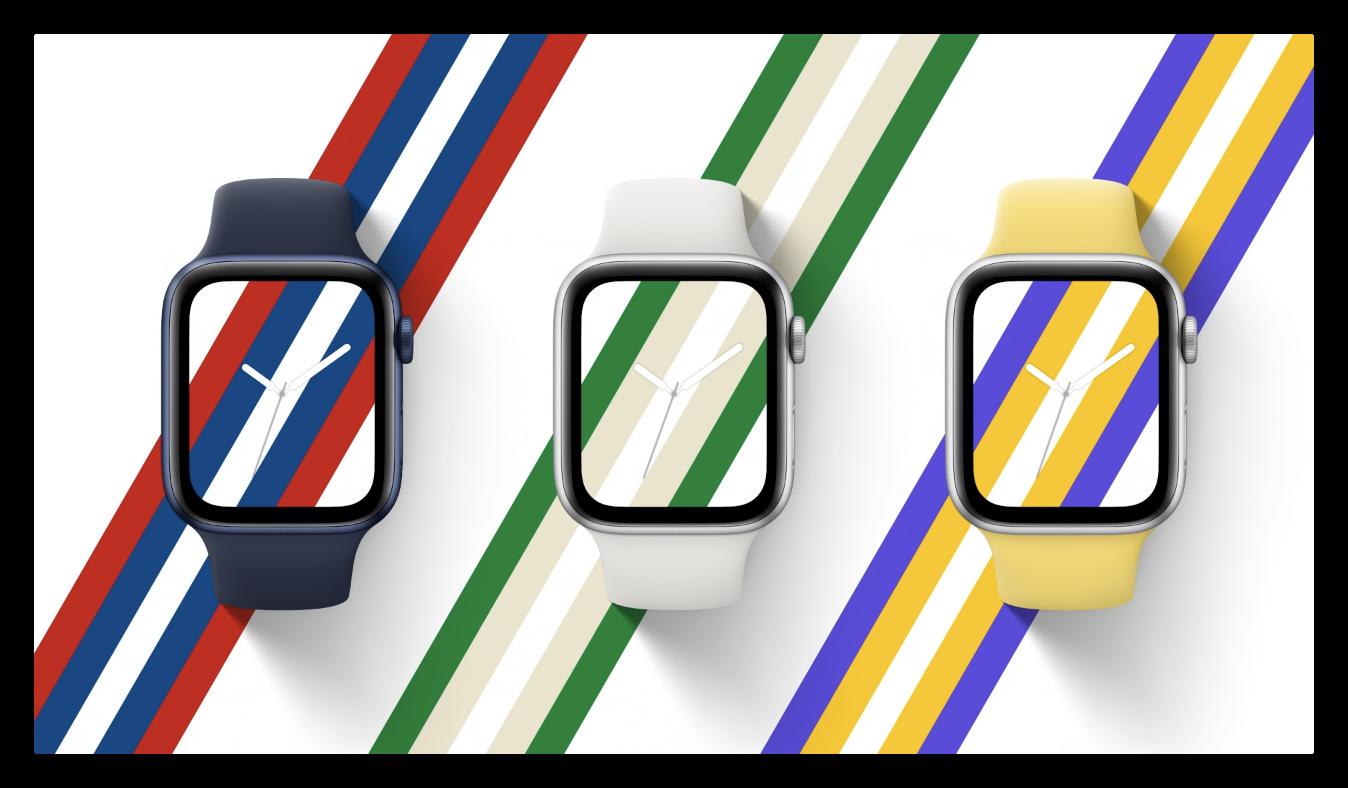 Apple Watch Series 6 gestreepte wijzerplaten