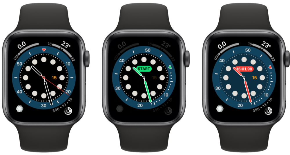 Opteltimer Apple Watch wijzerplaat
