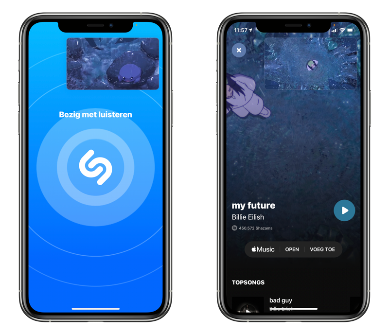 Shazam met picture in picture.