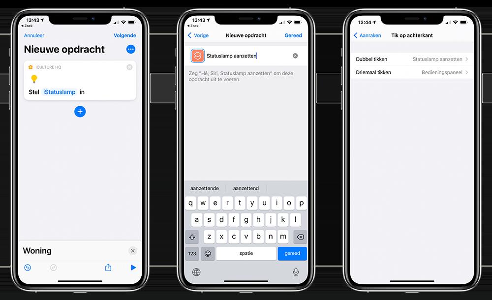 Tikken achterkant met Siri-opdracht