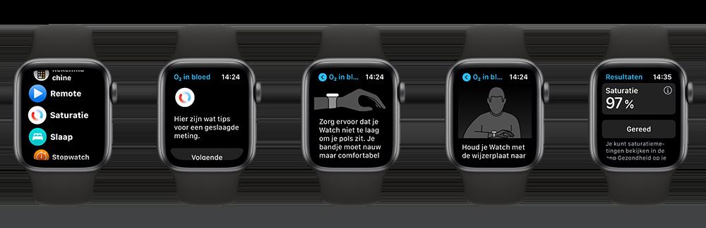 Apple Watch: saturatie meten