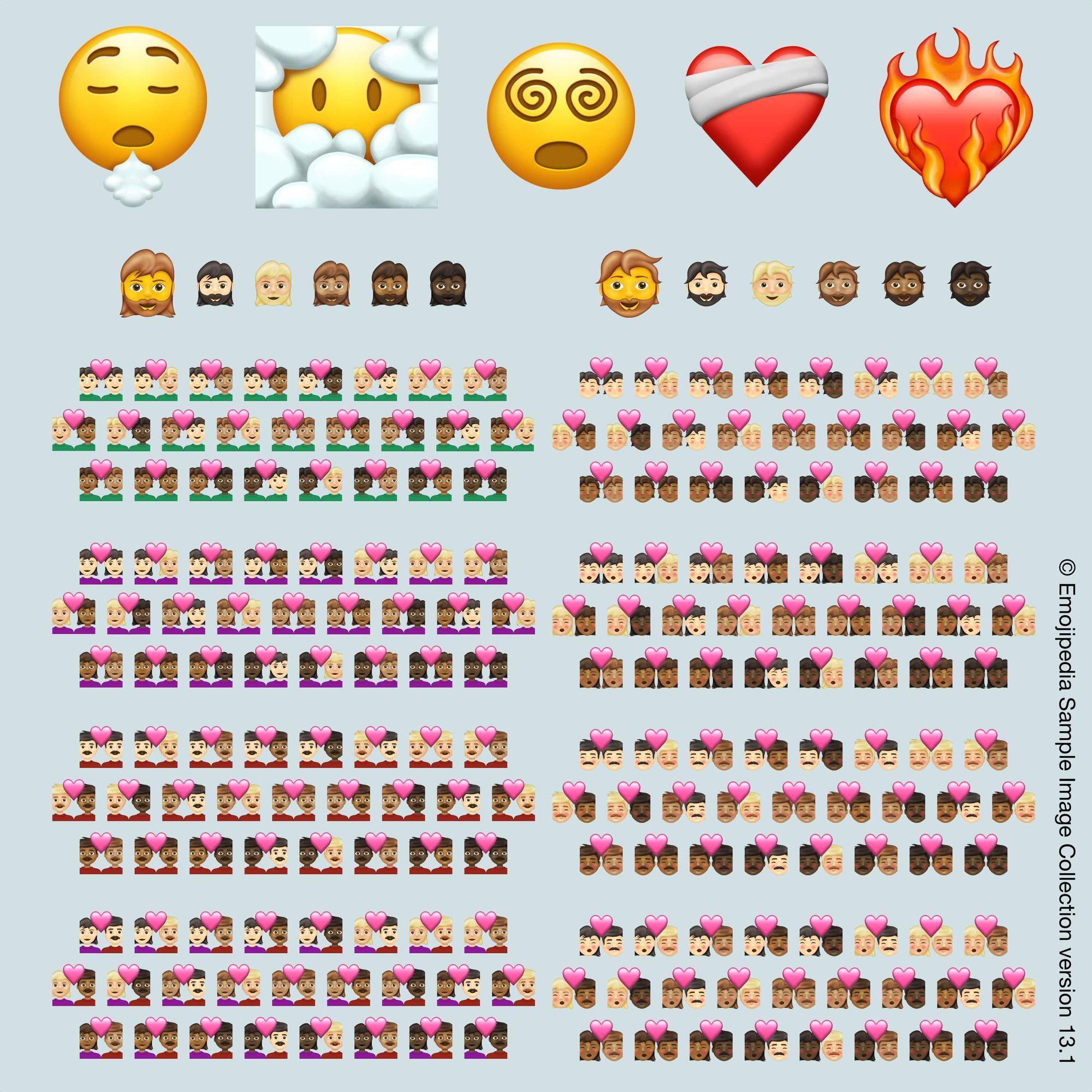 Emoji 2021 in versie 13.1.
