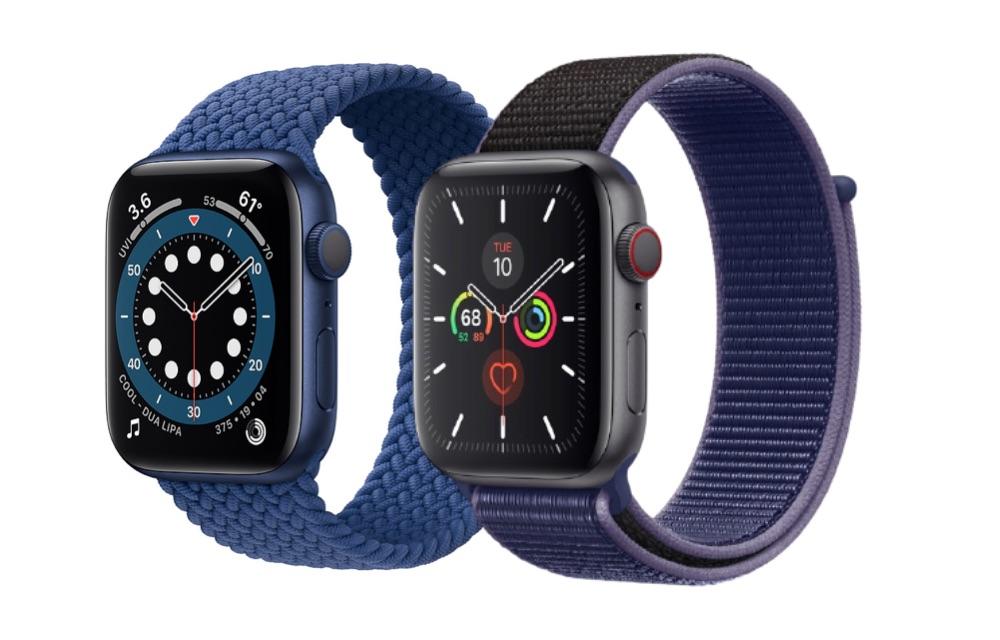Apple Watch Series 6 vs Apple Watch Series 5.