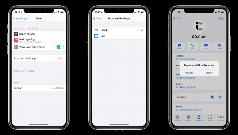 Gmail standaard mail-app.