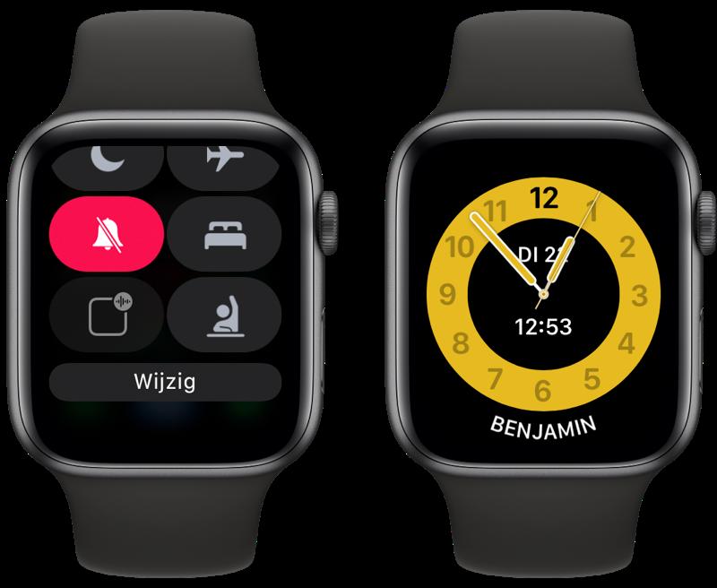 Apple Watch Schooltijd wijzerplaat.