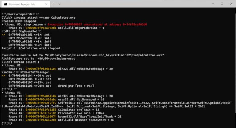 Swift programmeren onder Windows