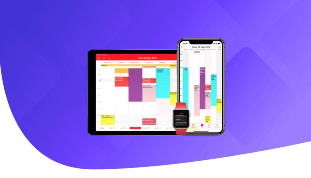 WeekCal agenda app.