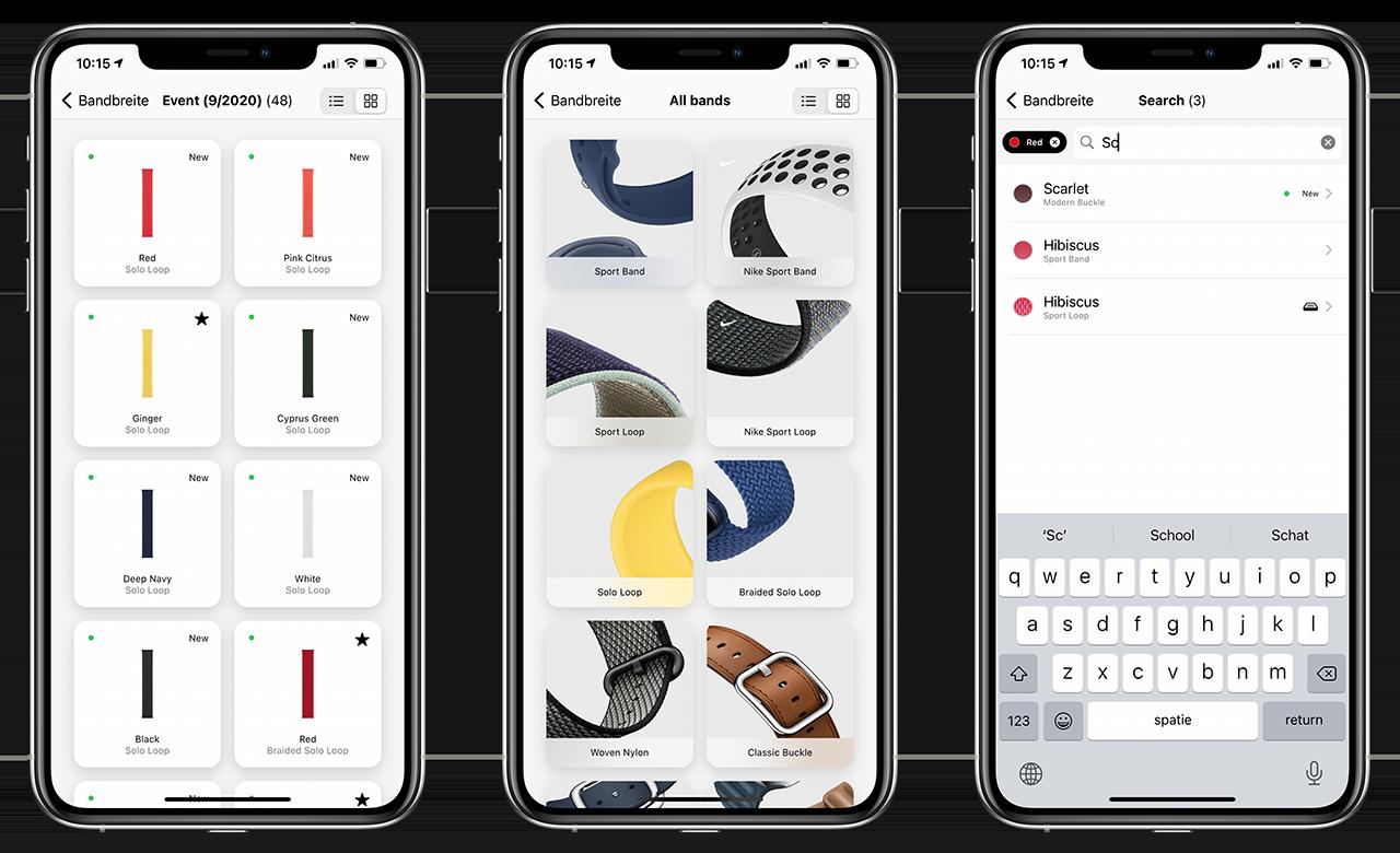 Bandbreite app: bladeren